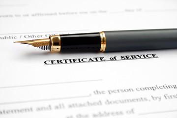 Certificate of service