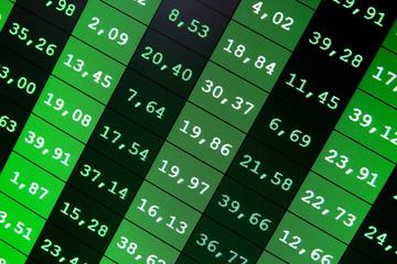 Business stock exchange. Copmputer screen.