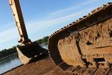 Hydraulic excavator caterpillar poster