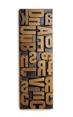 Wood typography