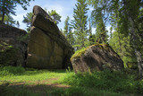 Rocks in the forest, Krasnoyarskie Stolby, Russia