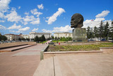 Giant head of Lenin in the central square of Ulan-Ude