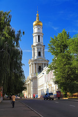 The bell tower of the Assumption Cathedral in Kharkiv