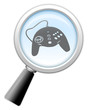 "Magnifying Glass Icon ""Gaming"""