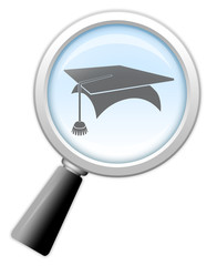 "Magnifying Glass Icon ""Education"""