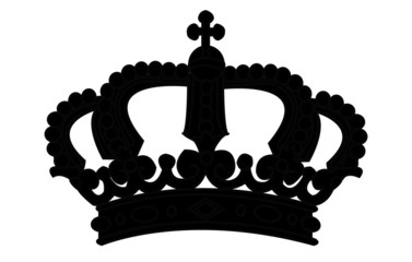 Crown silhouette on white - vector