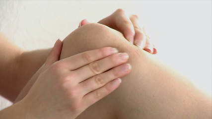 close-up of a knee massage