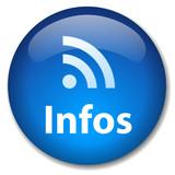 Bouton Web INFOS (actualités informations rss en ligne tv radio) poster