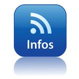 Bouton Web INFOS (informations actualités rss en ligne tv radio) poster