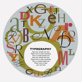 typographic composition poster