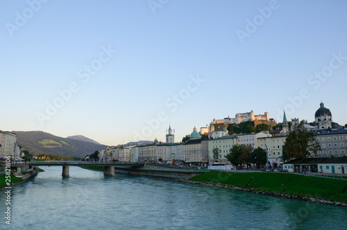 Salzburg in the twilight, Austria