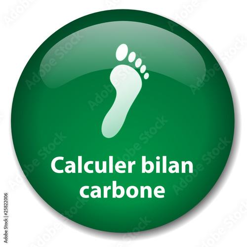 Bouton calculer bilan carbone empreinte cologie dioxyde co2 fi - Bilan carbone personnel ...