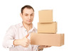 businessman with parcels