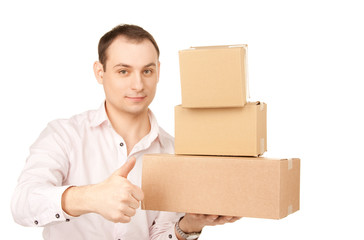 businessman with parcels