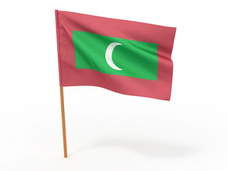 flag fluttering in the wind. Maldives