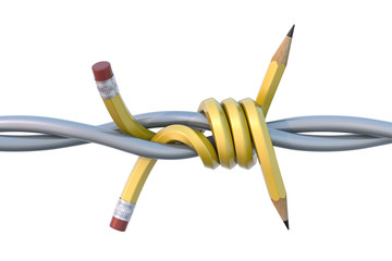 Barbed pencil
