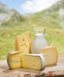 Käse und Milch