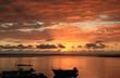 crépuscule sur lagon de la Réunion