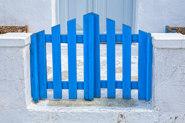Gate on the island of Mykonos, Greece