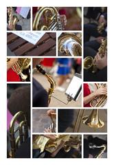 Musique fête instrument cuivres orchestre fanfare