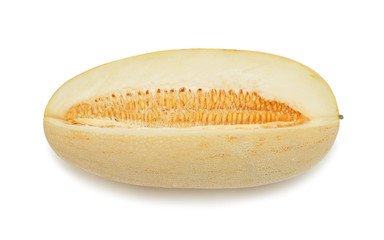 Yellow muskmelon, isolated on white
