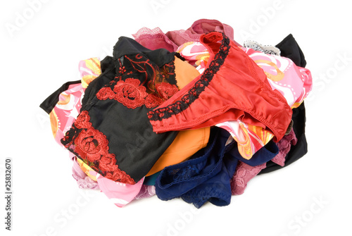 Pile of female panties | Isolated - 25832670