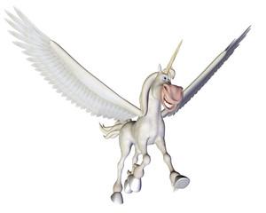 Pegasus smiling