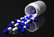 capsules black background