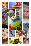 Poupées jeux jouets enfants collections poster