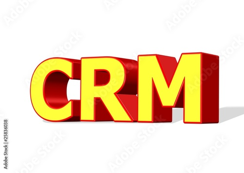 CRM 3D Isolated on white background