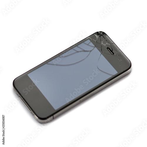 Mobiltelefon mit zerbrochenem Display