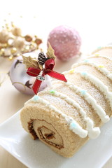 Christmas homemade roll cake