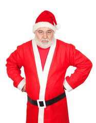 Portrait of angry Santa Claus