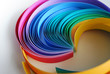 circular rainbow of paper strips