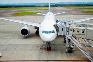 空港の航空機