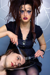 spider girl and victim