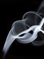 Smoke isolated against black background