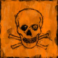 scull painting orange