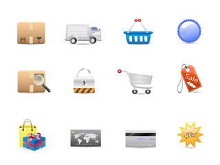 shopping consumerism icon set