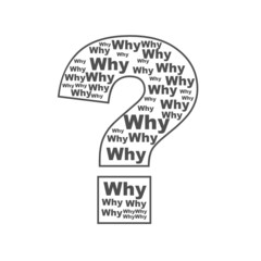 ask why in question mark