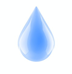 water drop on a white background