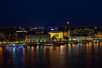 Night landscape of Budapest