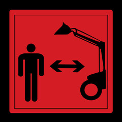 warning sign - keep distance from dredge