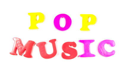pop music written in fridge magnets