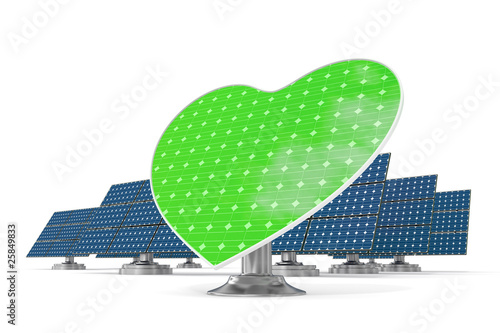 Solar panels green heart