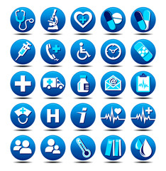 25 Matt Medical Icons