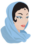 Woman in a scarf.