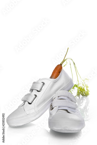 shoe with carrots for the horse of Sint, a dutch tradition
