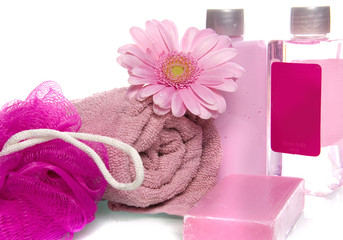 bathstuff in the color pink