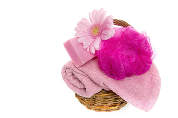 bathstuff in a basket